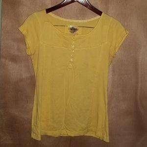 Yellow Short Sleeves Top - XL